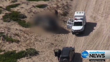 Police were called to Coorong National Park near Salt Creek.
