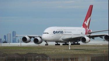 Qantas' A380 flies over Iraq en route from Dubai to London.
