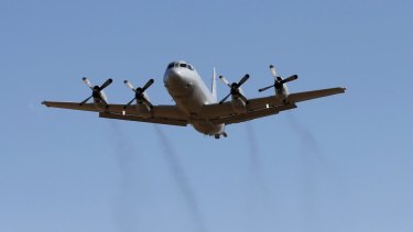 The RAAF's P-3 Orion surveillance planes routinely fly over the South China Sea.