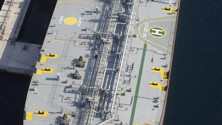 The condensate in tankers moored off its southern coast will add to a worldwide oil glut.