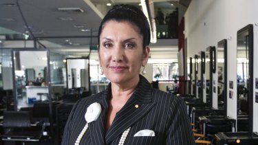 Beauty college owner Maureen Houssein-Mustafa.