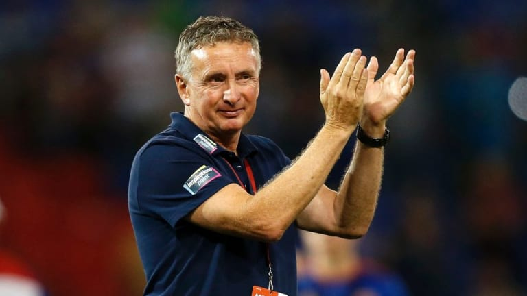 Former Victory coach Ernie Merrick has bounced back spectacularly with the Newcastle side.