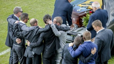 Team mates and family members remembered the footballer.