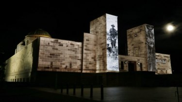 Anzac Day at the Australian War Memorial in 2013.