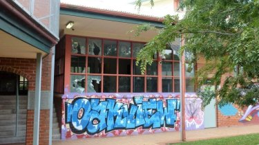Some of the damage caused by inmates at the Parkville detention centre in recent riots.