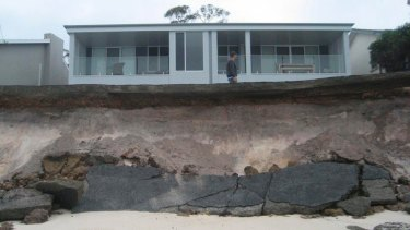 Beach erosion at Hawks Nest in the wake of April's storms.