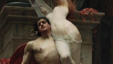 <i>Ajax and Cassandra</i> (detail),1886, by Solomon J. Solomon. Oil on canvas.