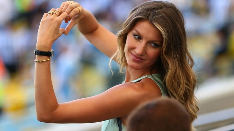 Model Gisele Bundchen at the Worl Cup final.