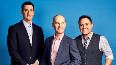 Ed Kavalee, Tom Gleisner and Sam Pang of Are You Paying Attention?