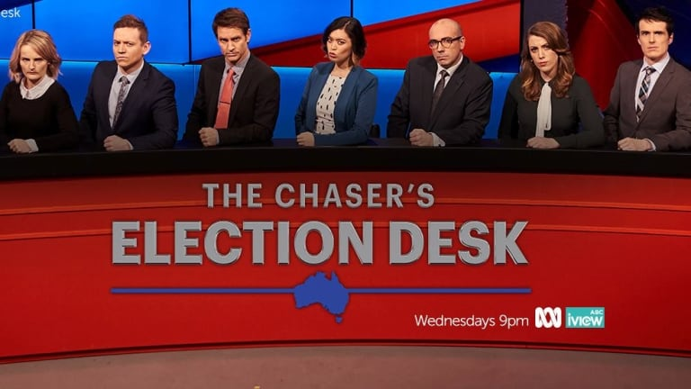 The Chaser's Election Desk is one of the ABC's popular programs in Canberra.