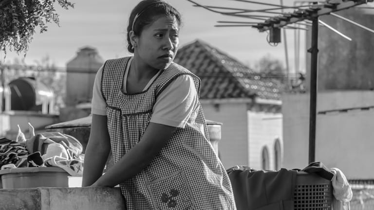 A still from Alfonso Cuaron's Roma.
