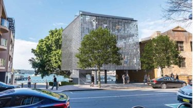 """An artist's impression of the controversial proposed """"glass box"""" building."""