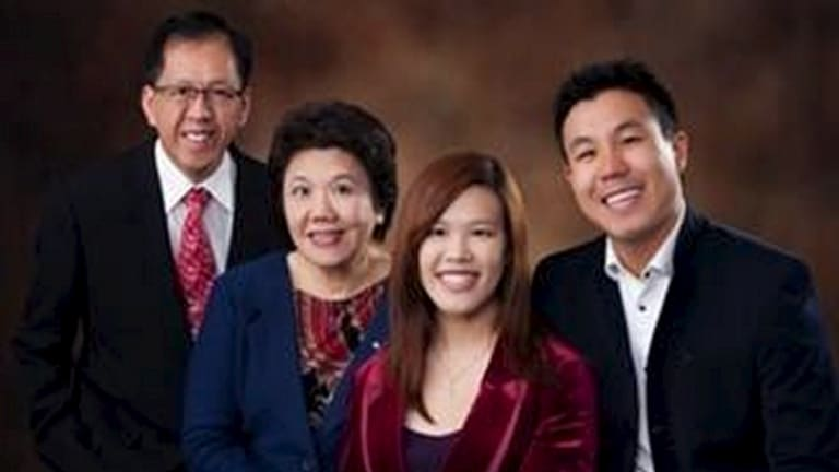 Curtis Cheng, left, and his family.