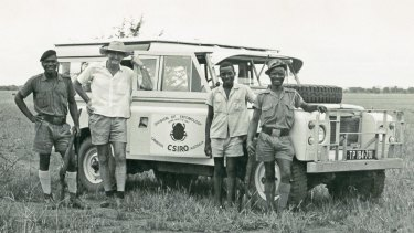 Dr George Bornemissza on dung beatle safari in South Africa in the early 1970s.