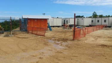 Photos supplied by activist group GetUp! in November show the housing being provided to asylum seekers on Manus Island.