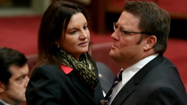 Independent senators Jacqui Lambie and Glenn Lazarus. So many parties named for their leaders is a risk.