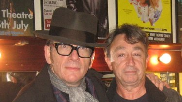 Joel Peterson with Elvis Costello, Sydney, 2013.