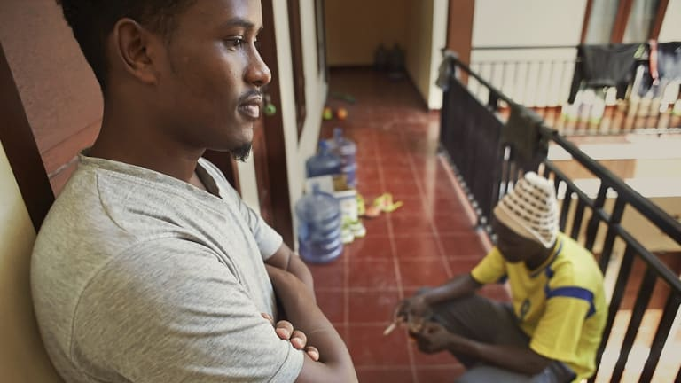 Unable to work, Somali migrants in Indonesia pass their days waiting for UNHCR processing and resettlement at an International Organisation for Migration-funded hostel in Makassar, Indonesia.