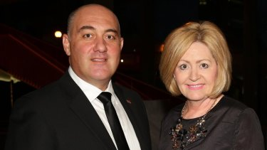 Deputy Perth Lord Mayor James Limnios and Perth Lord Mayor Lisa Scaffidi, in happier times.