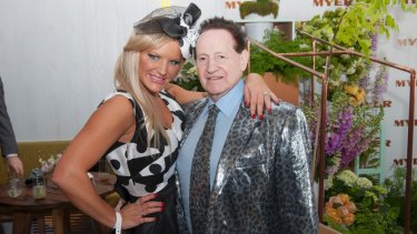 Geoffrey Edelsten has congratulated ex-wife Brynne on her 'engagement.' Pictured here together in November 2012.