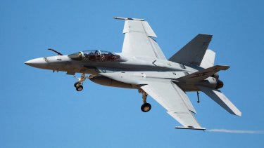 RAAF Super Hornet from the Amberley base.