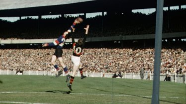 Bomber great John Coleman in action.