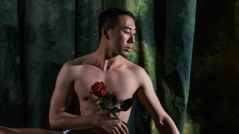 Yuchen Wang in Little Ones Theatre's <i>The Nightingale and the Rose<i>.