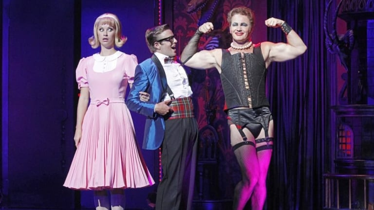 Christie Whelan Browne and Craig McLachlan on stage in The Rocky Horror Show.