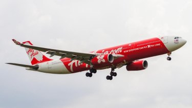 The AirAsia X plane involved in the incident last year.