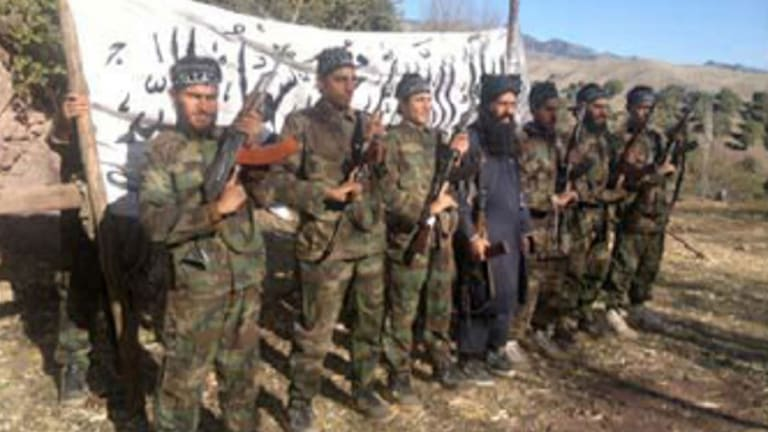 A photo released by the Tehrik-i-Taliban Pakistan (TTP) shows the Taliban Islamists who allegedly stormed an army-run school in Peshawar.