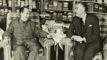 Gough Whitlam meets Chinese leader Chairman Mao Zedong in Beijing in 1973.
