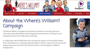 The Where's William campaign homepage at www.whereswilliam.org