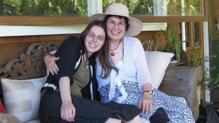 Sarah McIntyre with her mother Judith McIntyre.