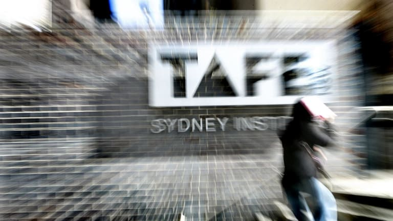 TAFE alarm: More than 30,000 students have been driven away this year.