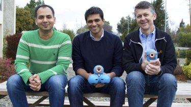 Play-i founders Saurabh Gupta, Vikas Gupta and Mikal Greaves