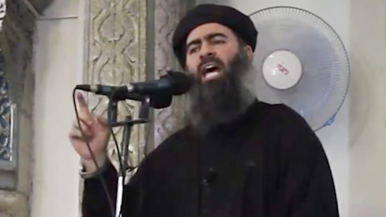 Islamic State leader Abu Bakr al-Baghdadi in Mosul in 2014.
