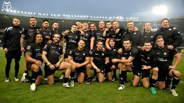 Start of something big? The Toronto Wolfpack after their first game, against Hull at the weekend.