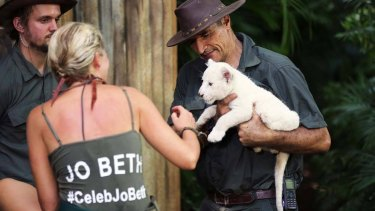 The rare white lion cub on <i>I'm A Celebrity ... Get Me Out Of Here</i> was reportedly used from a park which benefits from commercial breeding.