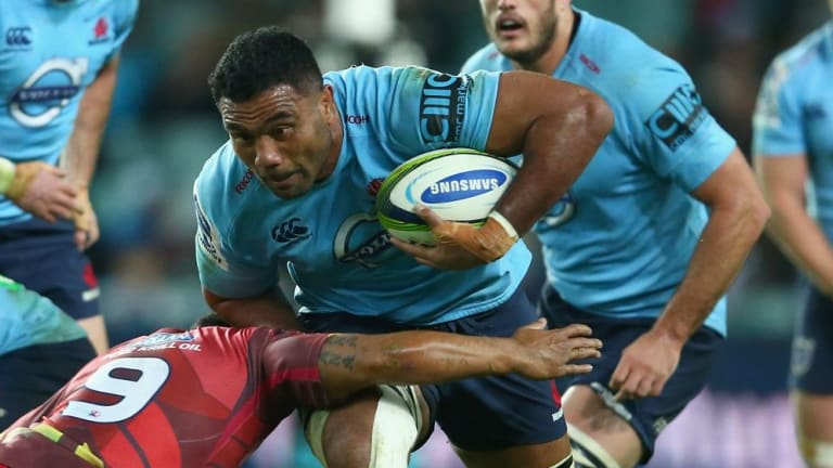 Coming through: Wycliff Palu plays against the Reds at Allianz Stadium last weekend.
