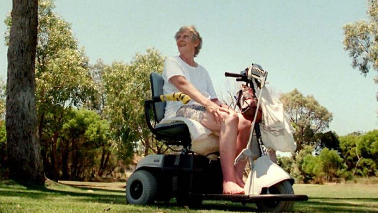 Betty Cuthbert near her Mandurah home south of Perth.