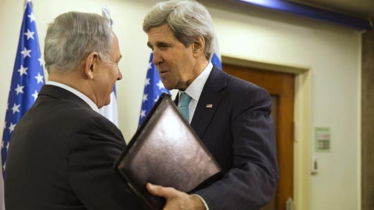 Israeli Prime Minister Benjamin Netanyahu offers no peace-deal joy to US Secretary of State John Kerry.