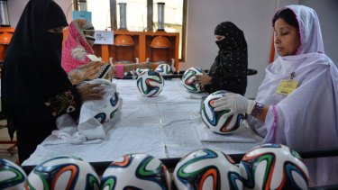Despite Pakistan having a FIFA world ranking of 159, the Forward Sports company has a proud history of manufacturing top-class balls for football competitions, including the Champions League and the German Bundesliga.