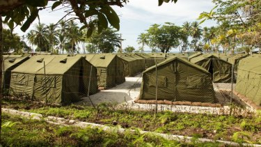 A detention centre at Manus Island.