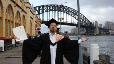 Raynor Manalad on his graduation day.