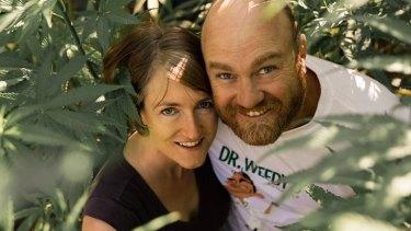 Vasse Valley hemp farmers Bronwyn and Chris Blake.