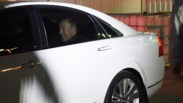 Cardinal George Pell arrives in Sydney on Monday morning.