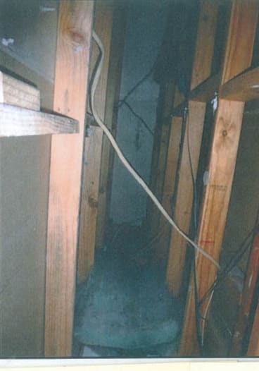The cavity where a brothel worker was found.