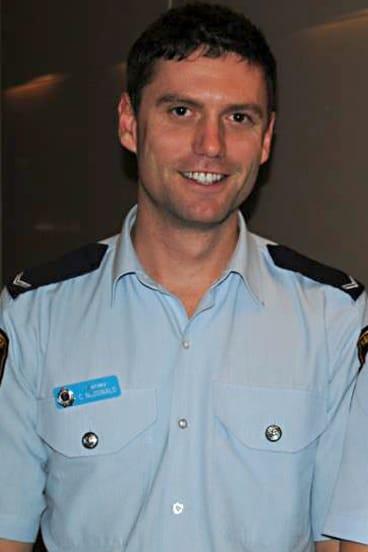 Bullied: Newtown Senior Constable Christian McDonald.