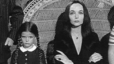 Gothic excess runs in the family as young Wednesday Addams apes mum Morticia in head-to-toe black and oddball habits (who needs a pet rabbit when there are spiders to play with?). Wednesday's child is indeed full of woe, and her doting mother couldn't be more proud.