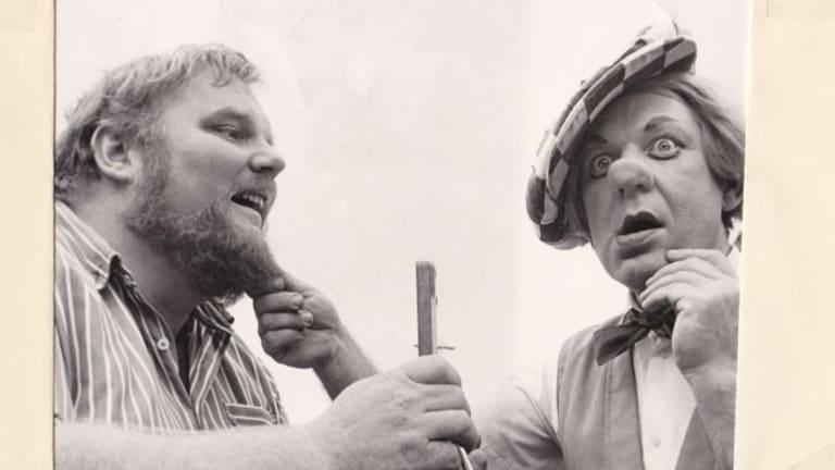 Michale Boddy with the Russian clown Popov.
